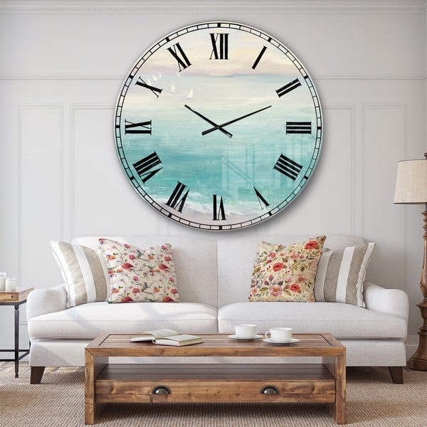 Designart 'From the Shore' Traditional Large Wall CLock. Opens flyout.