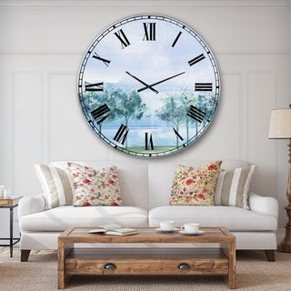 Designart 'Tree Across the Lake' Traditional Large Wall CLock