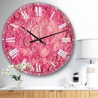 Designart 'Summer hawaiin Flowers' Digital Art Wall CLock