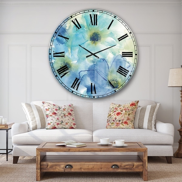 Designart 'Seashell Cosmos II' Cabin & Lodge Large Wall CLock