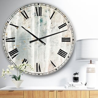 The Gray Barn Jartop 'A Woodland Walk into the Forest VI' Farmhouse Oversized Metal Clock