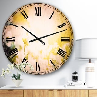 Designart 'Beautiful White Flowers At Sunrise' Flower Wall CLock