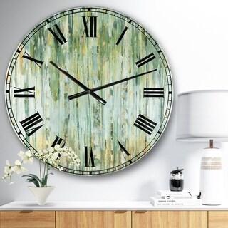 The Gray Barn Jartop 'Golden Birch Forest V' Farmhouse Oversized Metal Clock
