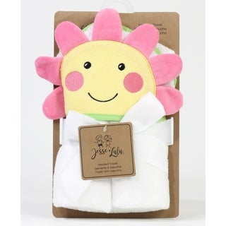 Happy Flower Face Hooded Baby Towel