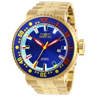 Invicta Men's Pro Diver 27665 Gold, Blue, Red, Yellow Watch