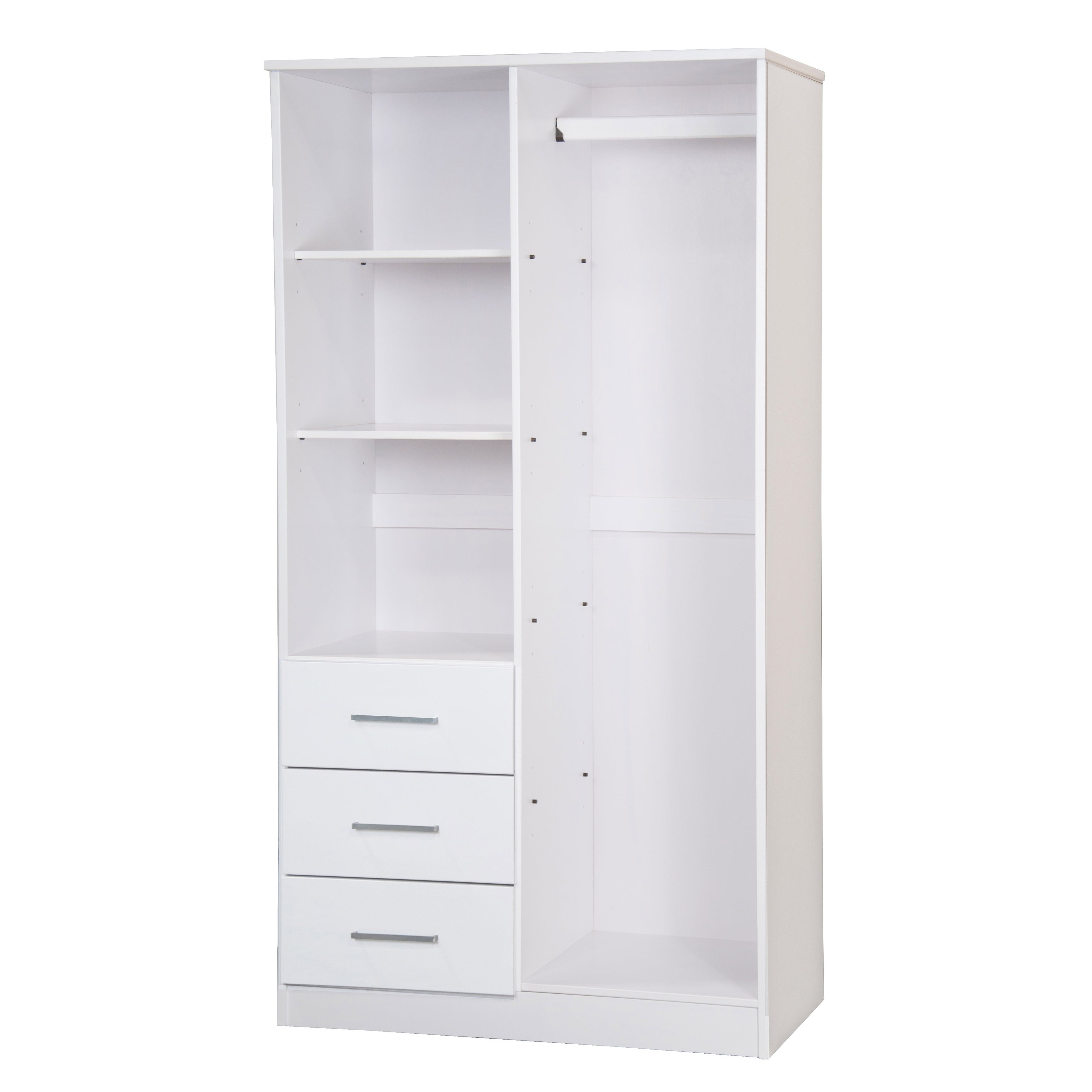 best website 8a1f5 bb17a Metro 2 Door Wardrobe/Armoire with Mirror/3 Drawers, Palace Imports