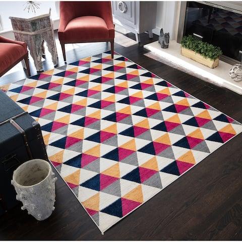 CosmoLiving Hex rug