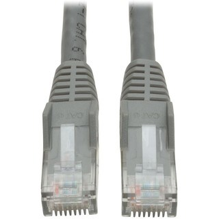 Tripp Lite 7ft Cat6 Gigabit Snagless Molded Patch Cable RJ45 M/M Gray