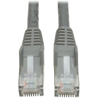Tripp Lite 25ft Cat6 Gigabit Snagless Molded Patch Cable RJ45 M/M Gra
