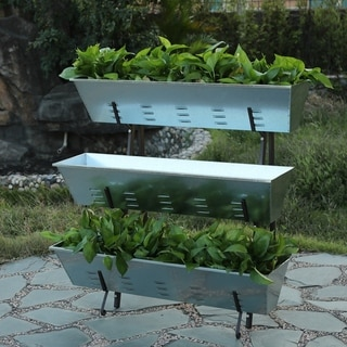 Metal Single Side 3-Tier Raised Garden Planter