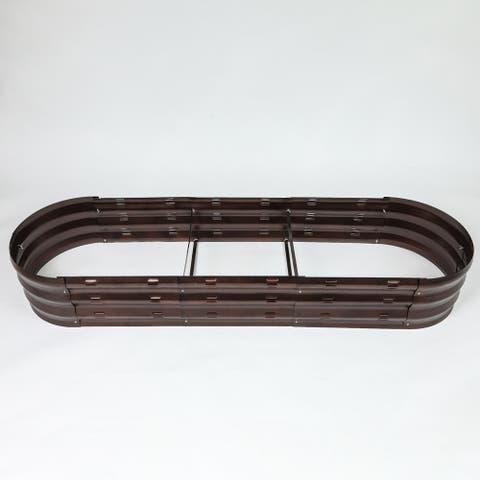 Metal Oval Garden Bed