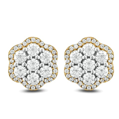 Cali Trove 1ct TDW Diamond Fashion Earring In 10kt White Gold