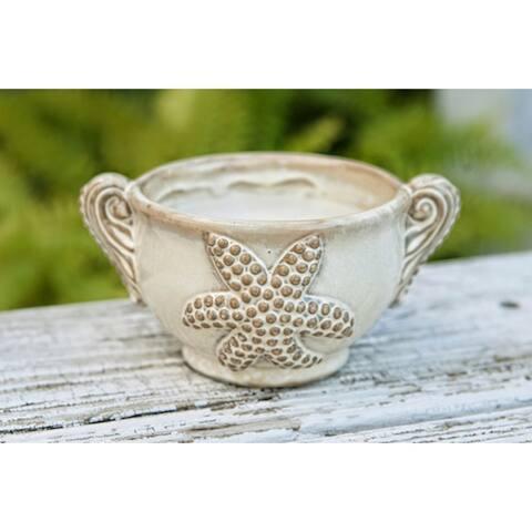 Citronella Candles in Decorative Ceramic Holder w/ Starfish Design