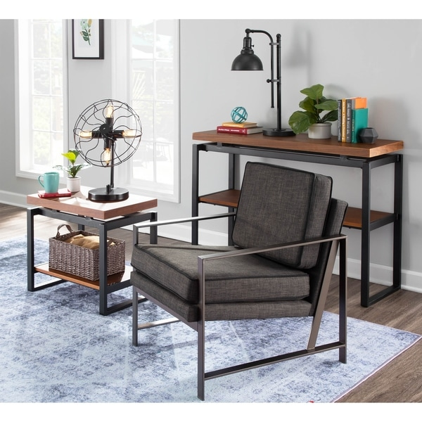 Copper Grove Tryavna Upholstered Armchair with Metal Frame