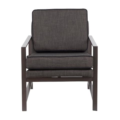 Copper Grove Tryavna Upholstered Armchair with Metal Frame - N/A