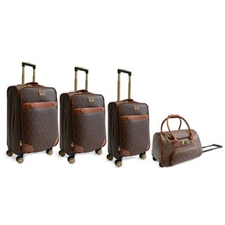 The Adrienne Vittadini Signature Collection 4 Pc Luggage Set