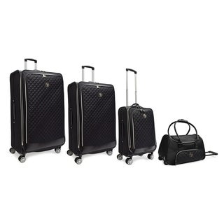 Adrienne Vittadini Quilted Collection 4 Piece Luggage Set