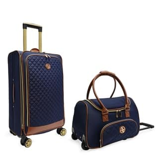 Adrienne Vittadini Quilted Collection 2 Piece Luggage Set - 2 piece set
