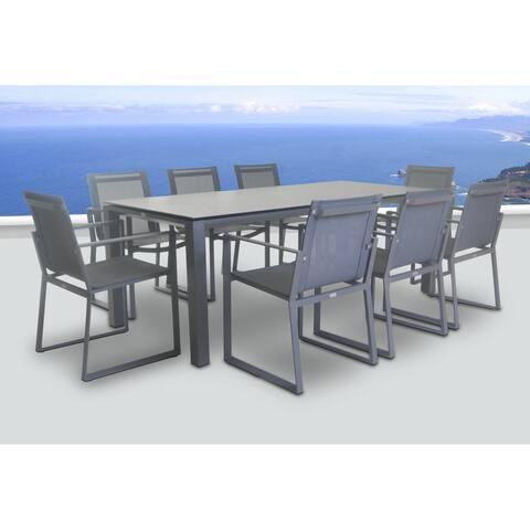 Primavera 9 Pc Dining Set - Carbon
