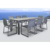 Primavera 9 Pc Dining Set - Carbon