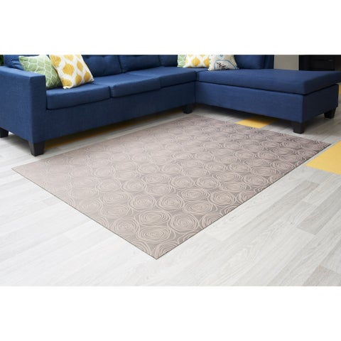 "Mats Inc. Mattisimo All Weather Area Rug, 6'5"" x 5', Essence Beige - 6'5"" x 5'"