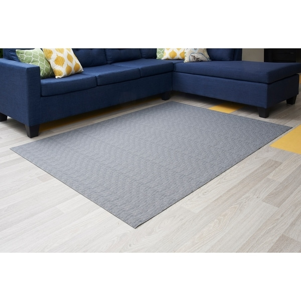 "Mats Inc. Mattisimo All Weather Area Rug, 6'5"" x 5', Chenille Gray - 4'11"" x 6'6"""