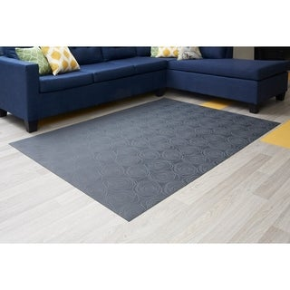 "Mats Inc. Mattisimo All Weather Area Rug, 6'5"" x 5', Essence Dark Gray - 4'11"" x 6'6"""
