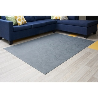 "Mats Inc. Mattisimo All Weather Area Rug, 6'5"" x 5', Goya Dark Gray - 4'11"" x 6'6"""