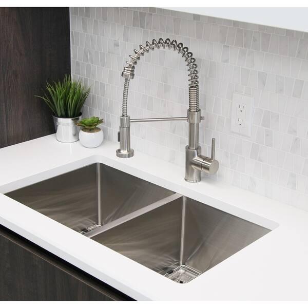 Shop Pull Down Sprayer Single Handle Modern Kitchen Sink ...