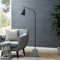 Strick & Bolton Chava Contemporary Black Floor Lamp