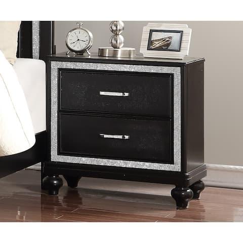 Kanti Black Pearl 2-drawer Nightstand