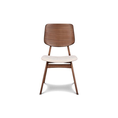 Carson Carrington Saldebraten Walnut Wood Dining Chairs (Set of 2)