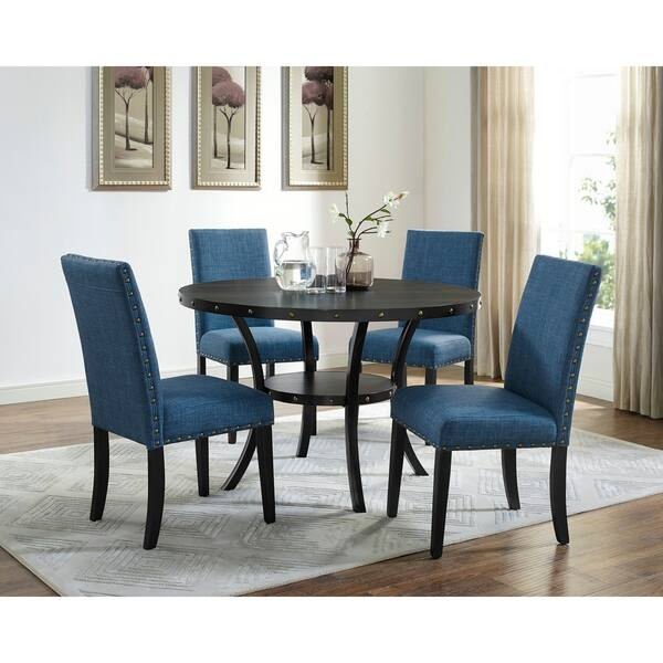 Crispin Black Marine Blue Dining Chairs