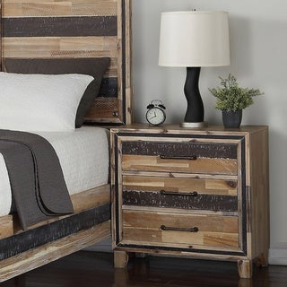 Carbon Loft Mordred Two-tone 3-drawer Nightstand