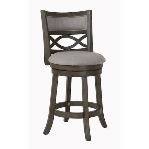 Manchester Antique Grey 24-inch Counter Stool with Fabric Seat