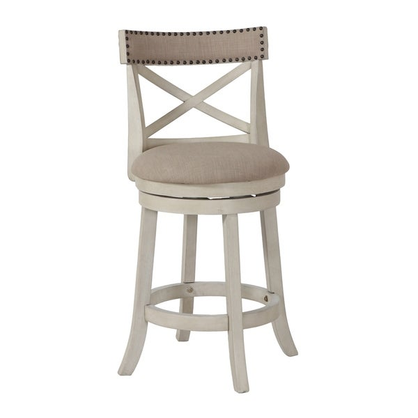 Shop York Antique White 24 Inch Counter Stool With Fabric