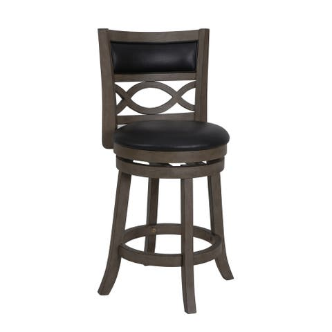 Manchester Antique Grey 24-inch Counter Stool with PU Seat