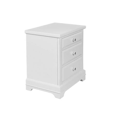 Copper Grove Pontoise Bright White 3-drawer Youth Nightstand