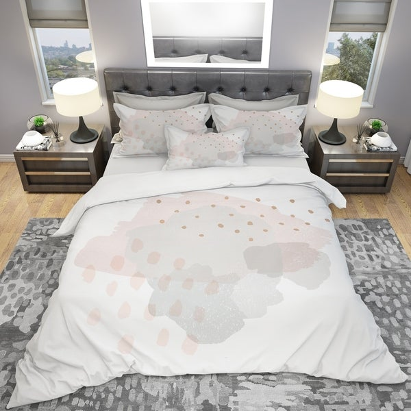 Designart Watercolor Minimal Blush II Geometric Twin Size Duvet Cover Set (As Is Item). Opens flyout.