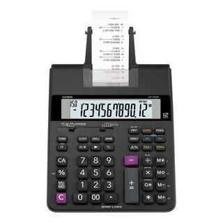 Casio HR200RC Printing Calculator, 12-Digit, LCD - Black - N/A