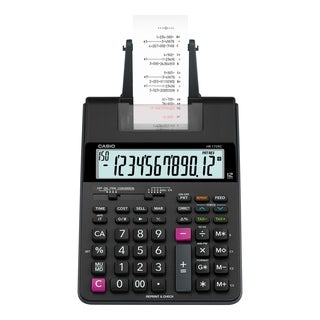 Casio HR170R Printing Calculator, 12-Digit, LCD - Black - N/A