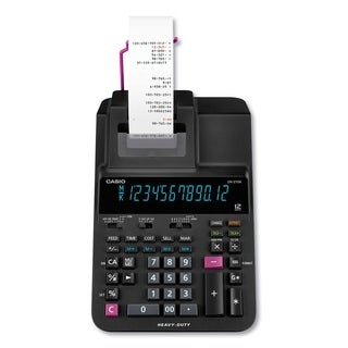 Casio DR-270R Printing Calculator, 2 Print, 4.8 Lines/Sec - Black - N/A