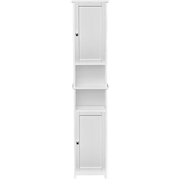 Custom DIY Bath Tower Linen Cabinet-2 Doors-Diamond Handle
