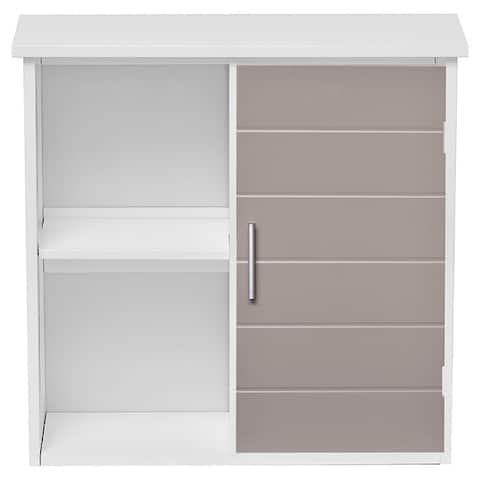 Custom DIY Bath Wall Mounted Cabinet-1 Door-Diamond Handle