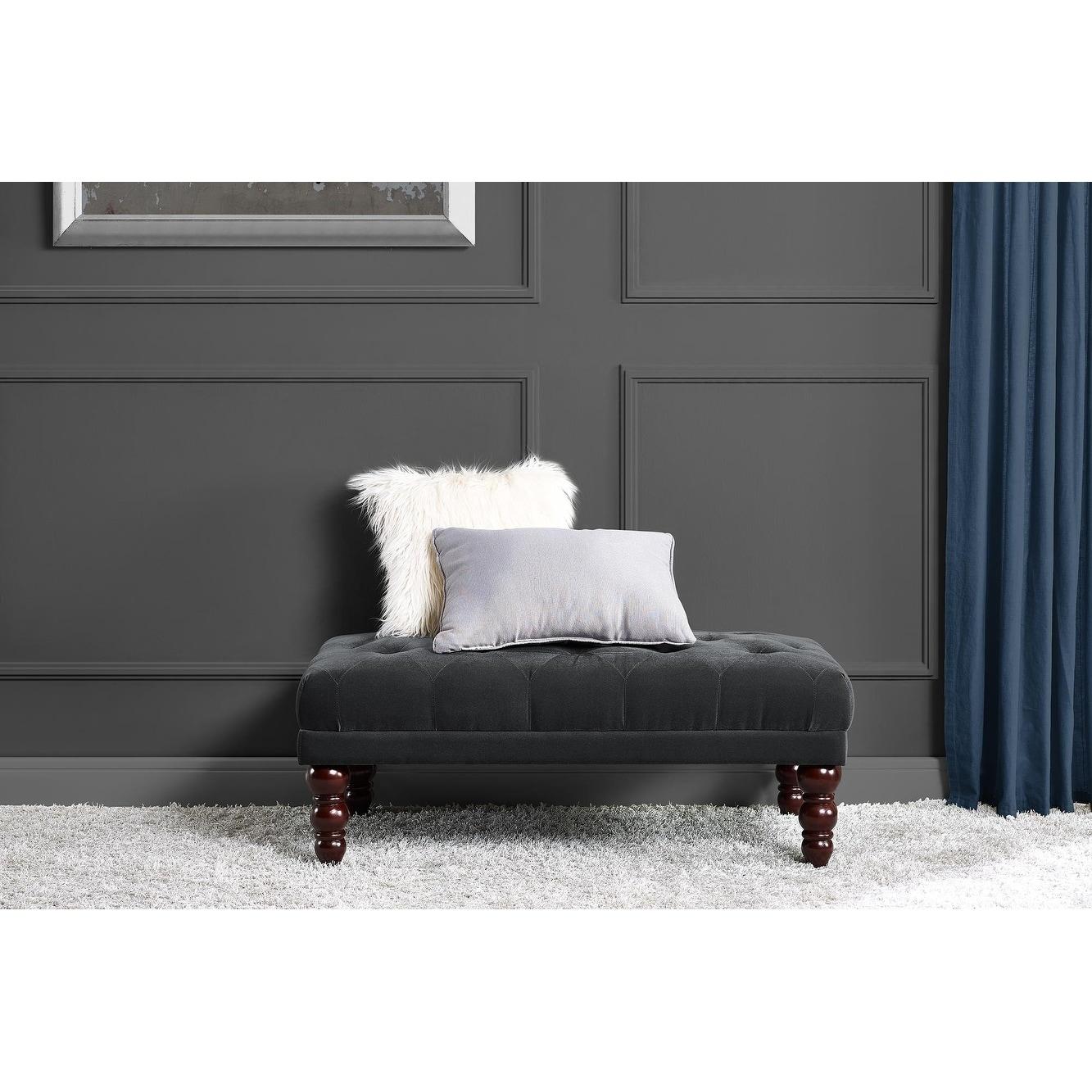 Pleasant Novogratz Vintage Tufted Ottoman Andrewgaddart Wooden Chair Designs For Living Room Andrewgaddartcom