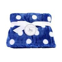Plush Fleece Polka Dot Baby Blanket