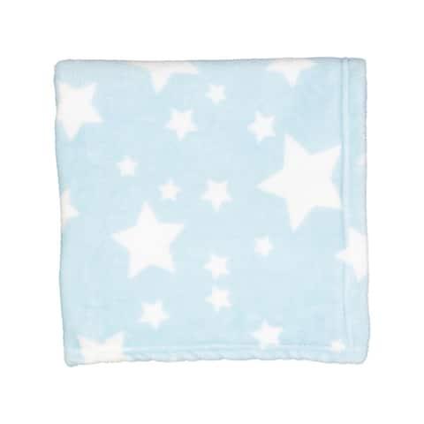 Plush Fleece Star Print Baby Blanket