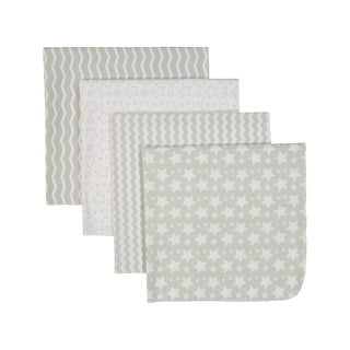 4 Pack Flannel Cotton Baby Receiving Blankets