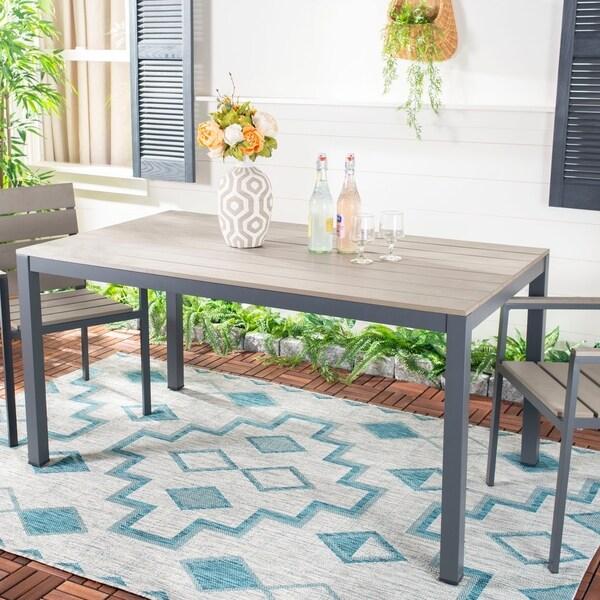 "Safavieh Outdoor Living Beldan Dining Table - Taupe - 59.1"" x 35.4"" x 30"""