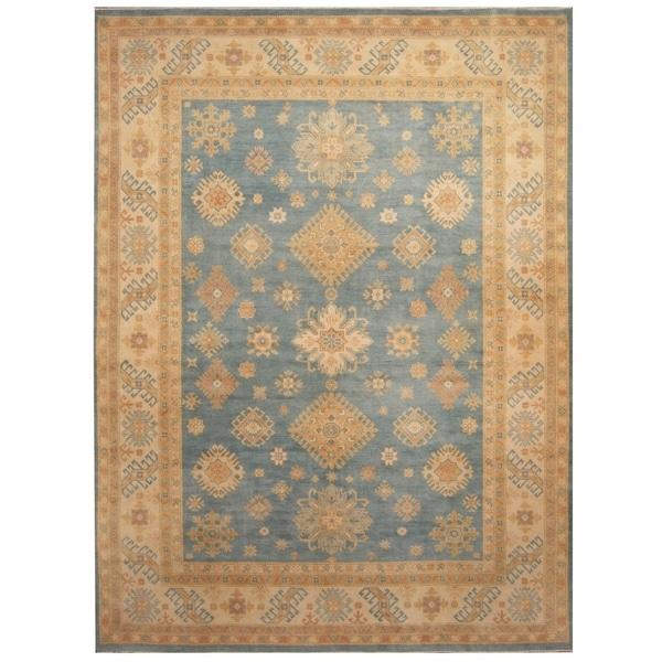 Handmade Vegetable Dye Kazak Wool Rug (Afghanistan) - 8'10 x 12'1